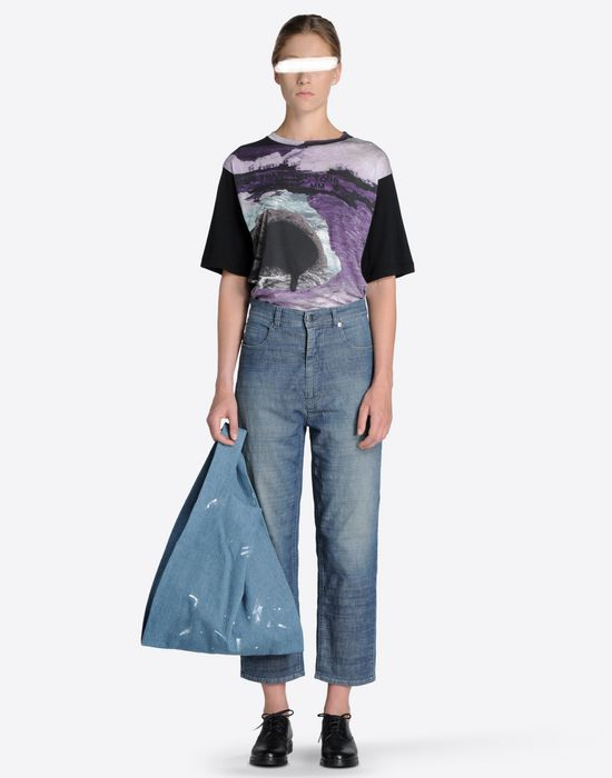 MM6 by MAISON MARGIELA Denim 'shopping' tote Tote D a