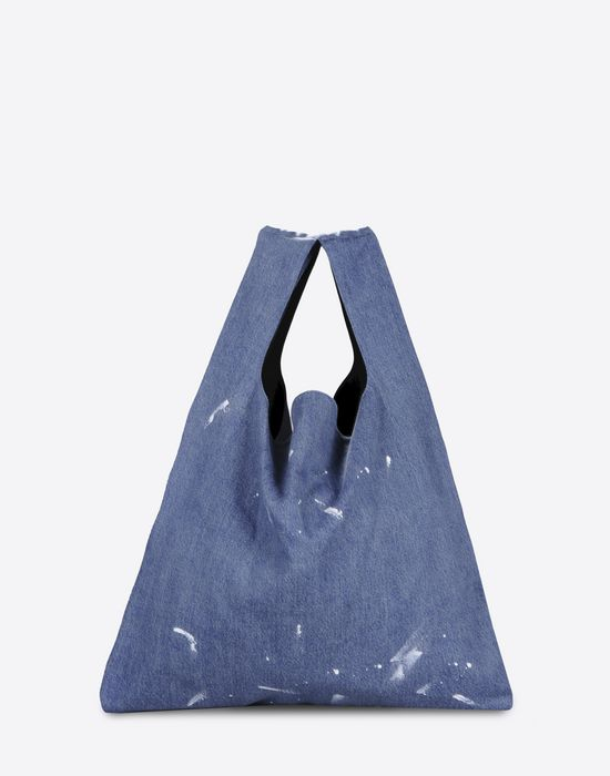 MM6 by MAISON MARGIELA Denim 'shopping' tote Tote D f