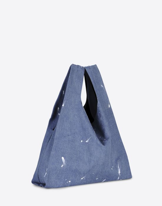 MM6 by MAISON MARGIELA Denim 'shopping' tote Tote D r