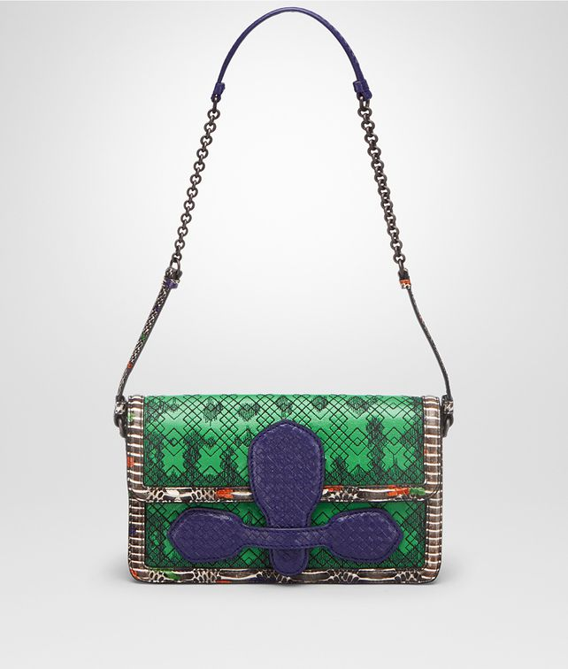 BOTTEGA VENETA SHOULDER BAG IN IRISH EXOTIC SKIN Shoulder Bag Woman fp