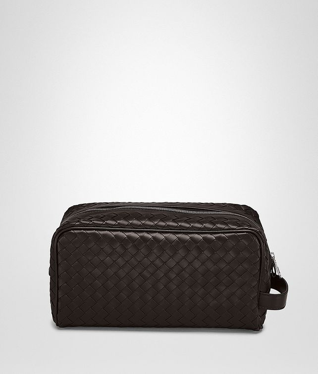 BOTTEGA VENETA TOILETRY CASE IN ESPRESSO INTRECCIATO VN Small bag U fp