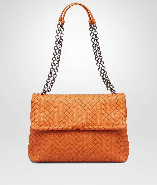 Bottega Veneta Medium Olimpia Bag In Persimmon Intrecciato Na Shoulder Pickupinshipping Info