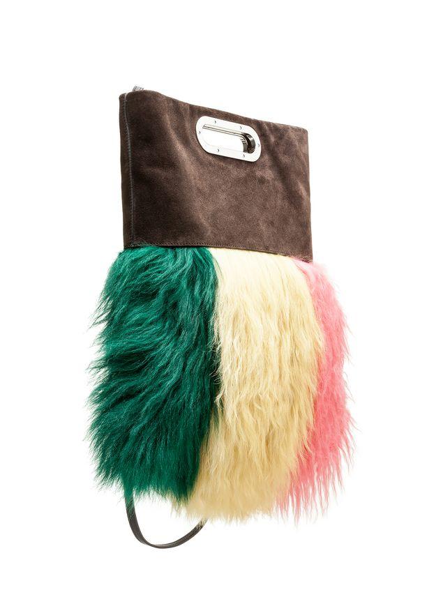 Marni Bandoleer bag in sheepskin and metal handles Woman - 2