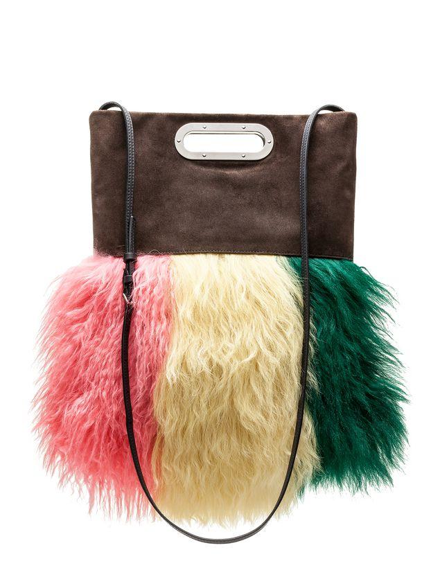 Marni Bandoleer bag in sheepskin and metal handles Woman - 3