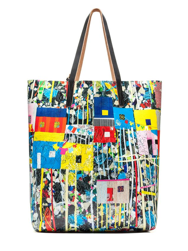 Marni SHOPPING bag in pvc Roger Mello print Woman