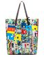 Marni SHOPPING bag in pvc Roger Mello print Woman - 1