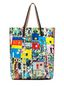 Marni SHOPPING bag in pvc Roger Mello print Woman - 3