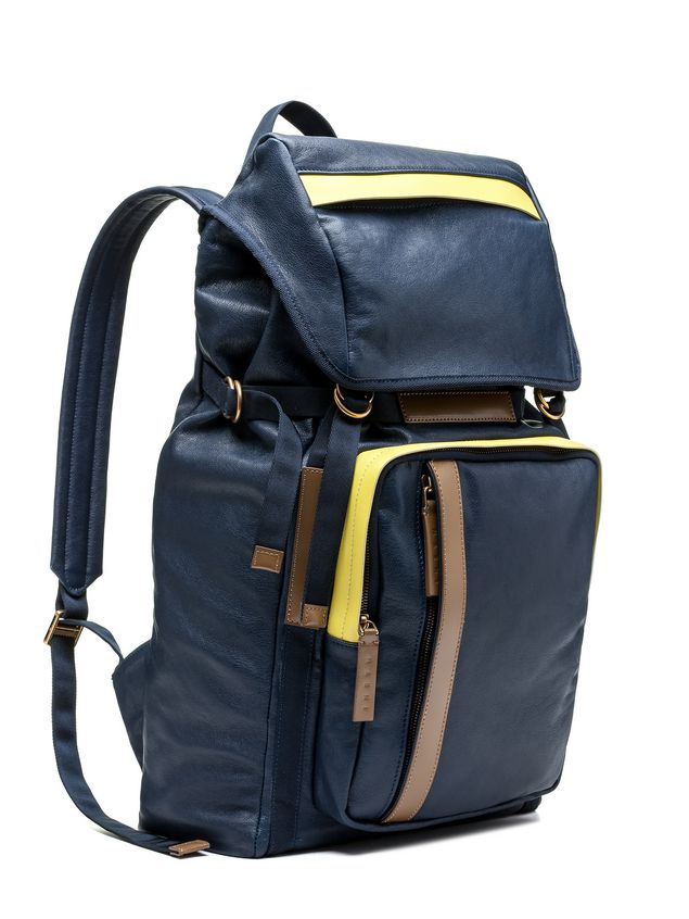 Marni Backpack in contrasting-colored matte nappa   Man - 2