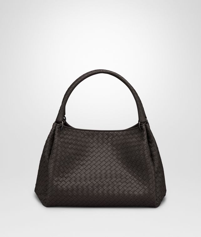 BOTTEGA VENETA PARACHUTE BAG IN ESPRESSO INTRECCIATO NAPPA Shoulder or hobo bag Woman fp