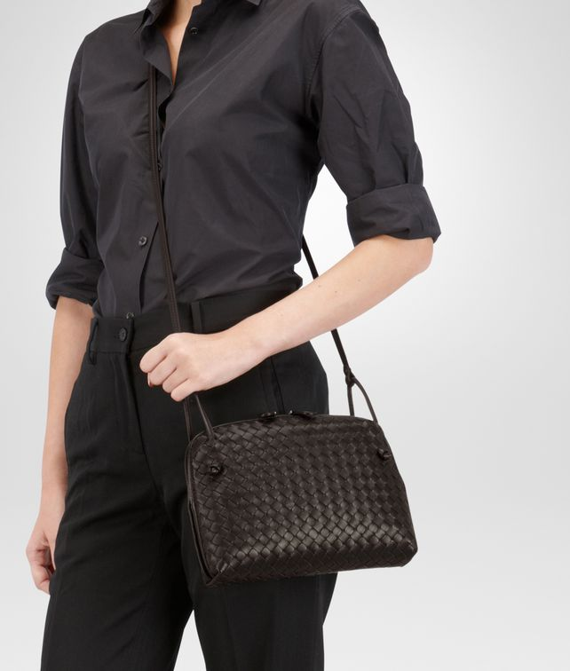 Bottega Veneta Small Woven Leather Messenger Bag
