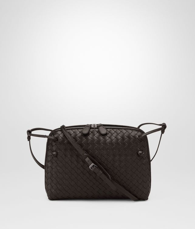 BOTTEGA VENETA MESSENGER BAG IN ESPRESSO INTRECCIATO NAPPA Crossbody bag D fp