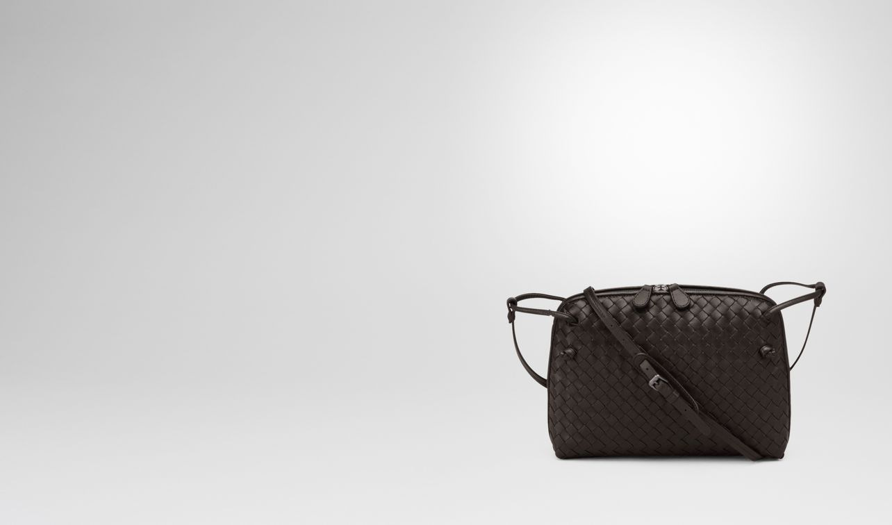 espresso intrecciato nappa leather nodini bag landing