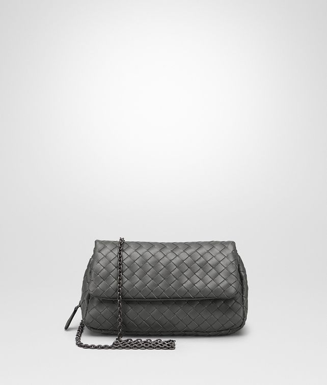 BOTTEGA VENETA MESSENGER BAG IN NEW LIGHT GREY INTRECCIATO NAPPA Crossbody bag [*** pickupInStoreShipping_info ***] fp