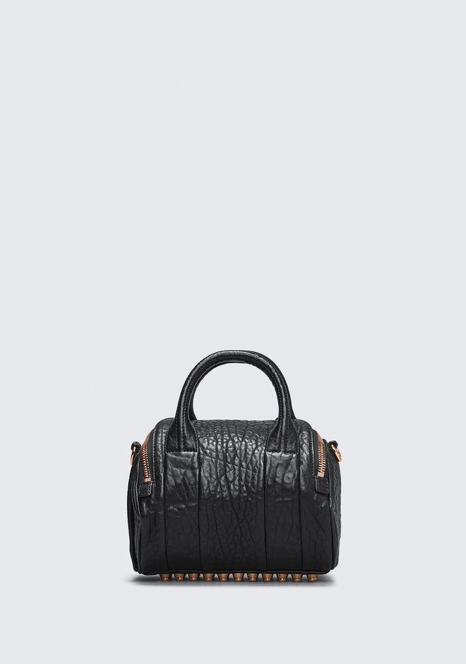 ALEXANDER WANG MINI ROCKIE IN PEBBLED BLACK WITH ROSE GOLD   Shoulder bag Adult 12_n_d