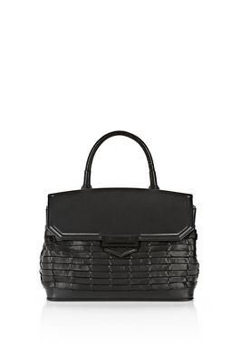 LARGE WOVEN MARION IN BLACK WITH MATTE BACK