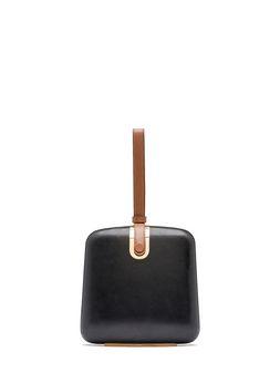 Marni BOITE clutch in matte nappa with leather strap Woman