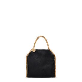 STELLA McCARTNEY Falabella Mini Bags D Black Falabella Shaggy Deer Tiny Tote f