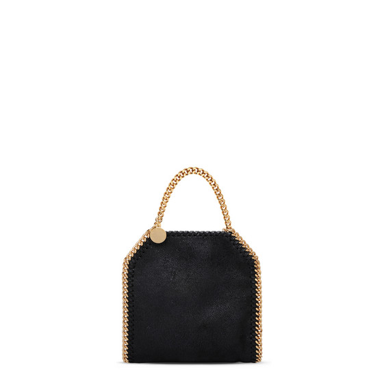 Falabella Tiny Tote Nera in Shaggy Deer