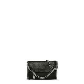 STELLA McCARTNEY Borse Piccole Falabella D Falabella Tiny Fold Over Tote Nera in Shaggy Deer f