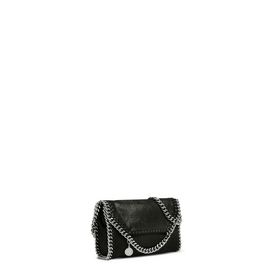 Falabella Tiny Fold Over Tote Nera in Shaggy Deer