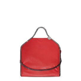 STELLA McCARTNEY Tote D Plum Falabella Shaggy Deer Fold Over Tote  f