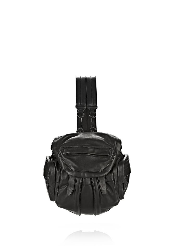 ALEXANDER WANG mini-bags MINI MARTI IN BLACK WITH MATTE BLACK