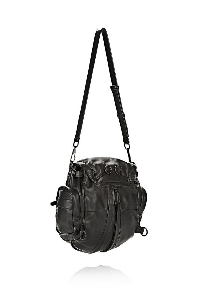 ALEXANDER WANG MINI MARTI IN BLACK WITH MATTE BLACK BACKPACK Adult 12_n_a