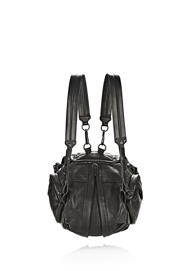 ALEXANDER WANG MINI MARTI IN BLACK WITH MATTE BLACK BACKPACK Adult 12_n_e