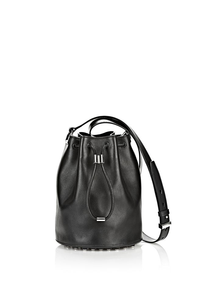 ALEXANDER WANG Shoulder bags Women ALPHA BUCKET IN BLACK WITH RHODIUM
