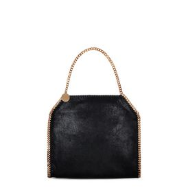 STELLA McCARTNEY Tote bag D Falabella Small Tote Nera in Shaggy Deer  f