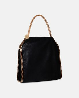 Falabella Small Tote Nera in Shaggy Deer