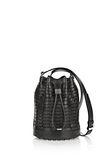 ALEXANDER WANG WOVEN ALPHA BUCKET IN BLACK WITH RHODIUM Shoulder bag Adult 8_n_f