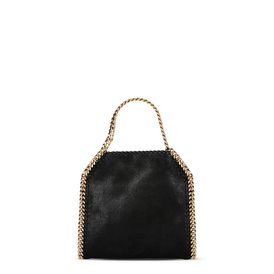 STELLA McCARTNEY Mini-Taschen Falabella D Schwarze Mini Tote Bag Falabella aus Shaggy Deer f