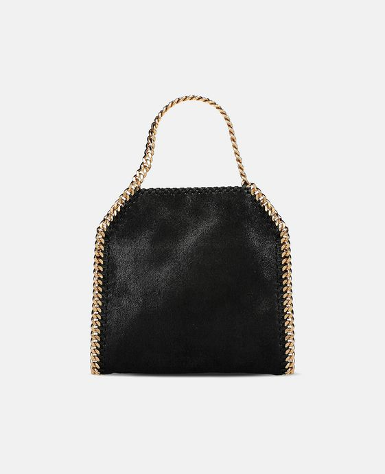 STELLA McCARTNEY Black Falabella Shaggy Deer Mini Tote Mini Bags D c
