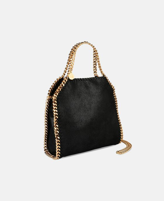 STELLA McCARTNEY Black Falabella Shaggy Deer Mini Tote Mini Bags D h