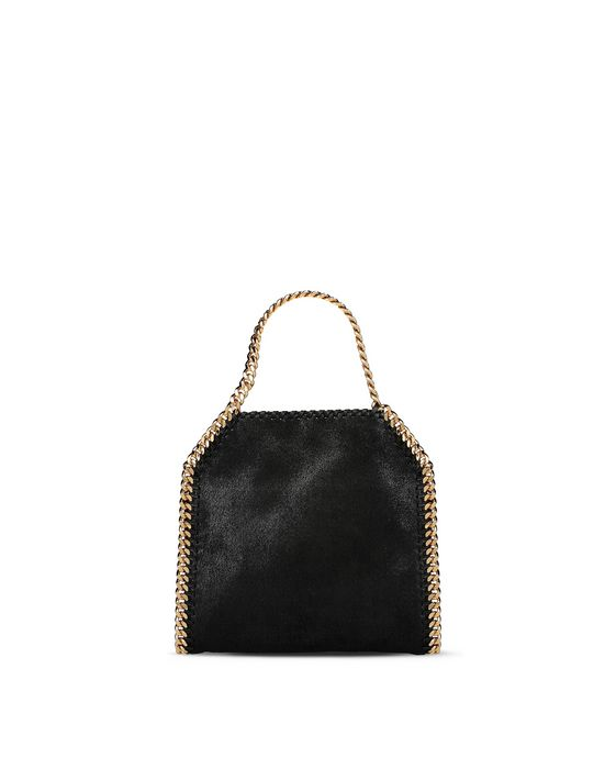 STELLA McCARTNEY Black Falabella Shaggy Deer Mini Tote Mini Bags D i