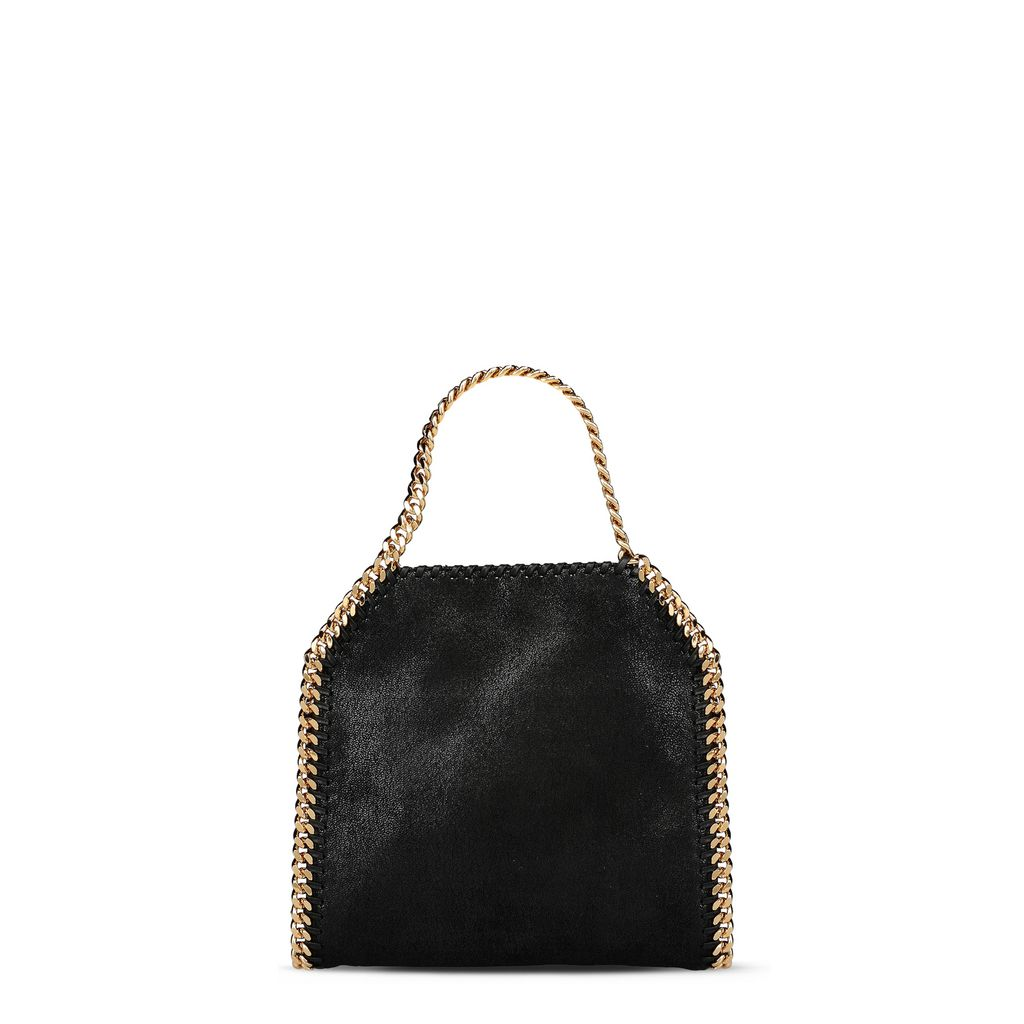 Black Falabella Shaggy Deer Mini Tote - STELLA MCCARTNEY
