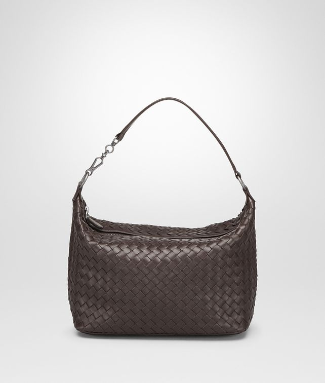 BOTTEGA VENETA SMALL SHOULDER BAG IN ESPRESSO INTRECCIATO NAPPA Shoulder Bag [*** pickupInStoreShipping_info ***] fp