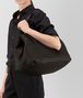 espresso intrecciato nappa large cesta bag Full Out Portrait