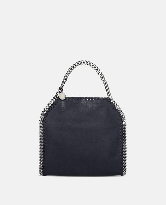 Navy Falabella Shaggy Deer Mini Tote
