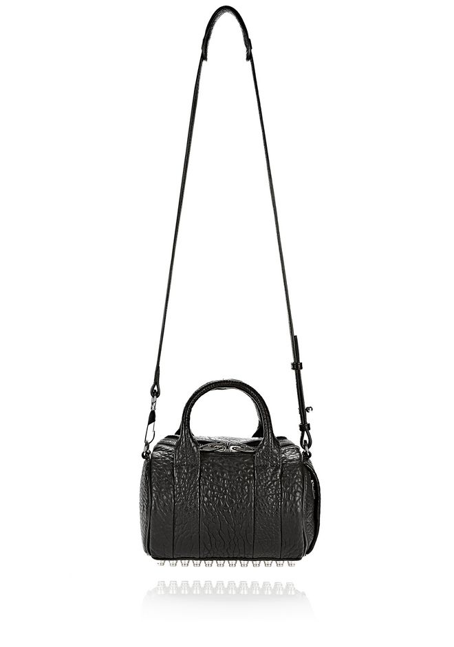 ALEXANDER WANG MINI ROCKIE IN PEBBLED BLACK WITH RHODIUM   Schultertasche Adult 12_n_d