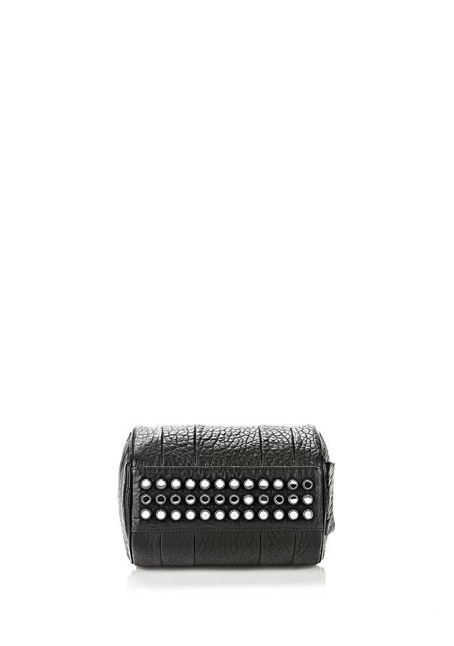 ALEXANDER WANG MINI ROCKIE IN PEBBLED BLACK WITH RHODIUM   Schultertasche Adult 12_n_e