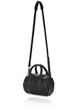 ALEXANDER WANG MINI ROCKIE IN PEBBLED BLACK WITH RHODIUM   Schultertasche Adult 8_n_a