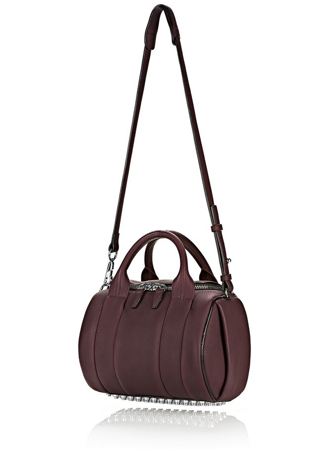 ALEXANDER WANG ROCKIE IN MATTE OXBLOOD WITH RHODIUM  Shoulder bag Adult 12_n_e