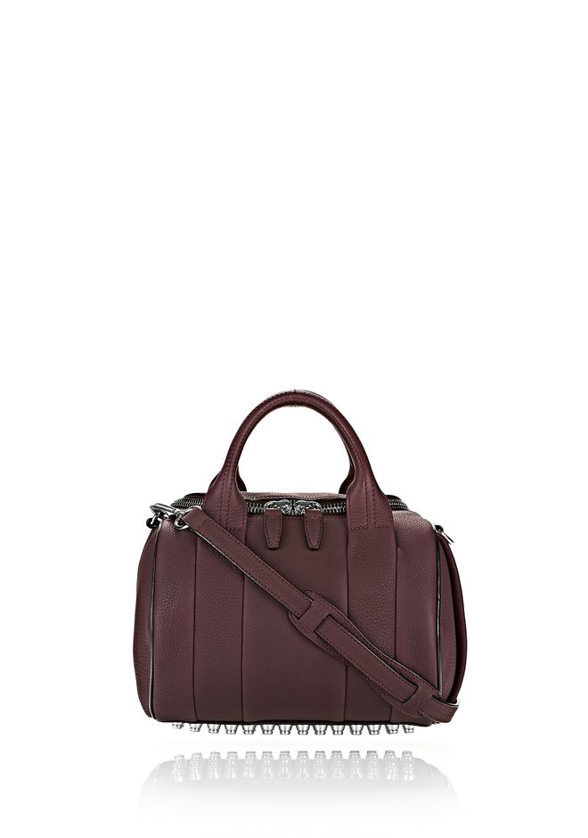 ALEXANDER WANG ROCKIE IN MATTE OXBLOOD WITH RHODIUM  Shoulder bag Adult 12_n_f