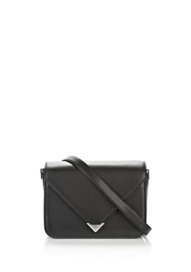 ALEXANDER WANG womens-classics PRISMA ENVELOPE SLING IN BLACK WITH RHODIUM