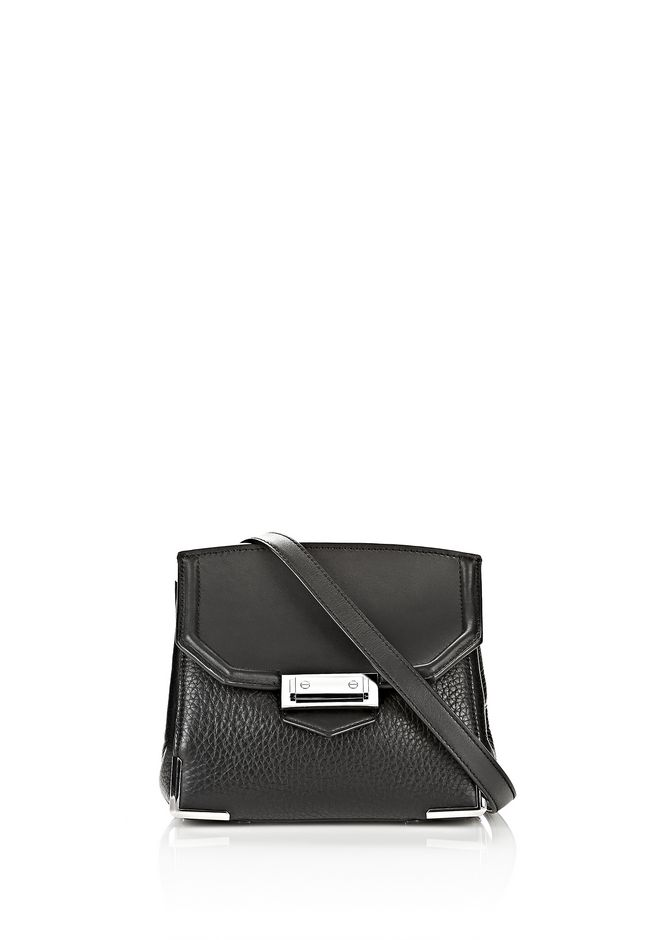 ALEXANDER WANG sale-w-handbags MARION IN PEBBLED BLACK WITH RHODIUM