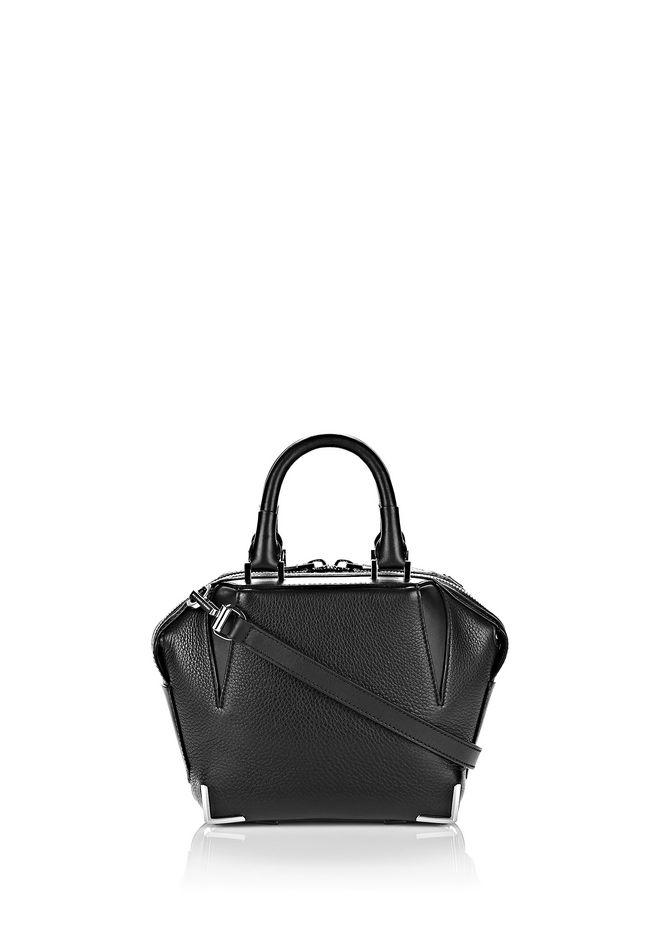 ALEXANDER WANG sale-w-handbags MINI EMILE IN PEBBLED BLACK WITH RHODIUM