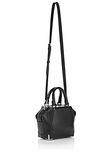 ALEXANDER WANG MINI EMILE IN PEBBLED BLACK WITH RHODIUM Shoulder bag Adult 8_n_a