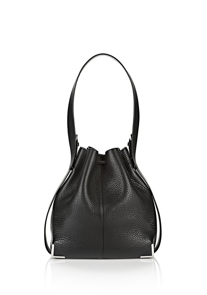 ALEXANDER WANG PRISMA DRAWSTRING HOBO IN BLACK WITH RHODIUM Shoulder bag Adult 12_n_a